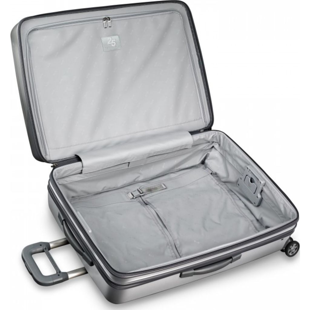 Briggs & Riley Large Expandable Spinner Suitcase | Silver