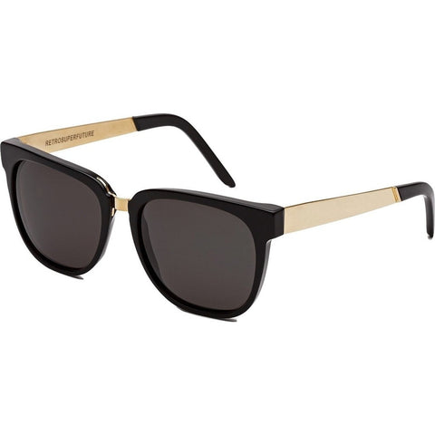 RetroSuperFuture People Sunglasses | Francis Black Gold 348