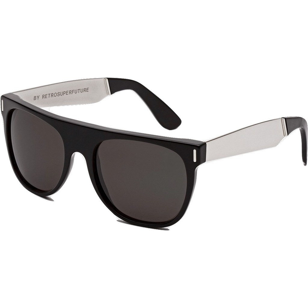 RetroSuperFuture Flat Top Sunglasses | Francis Black Silver 770