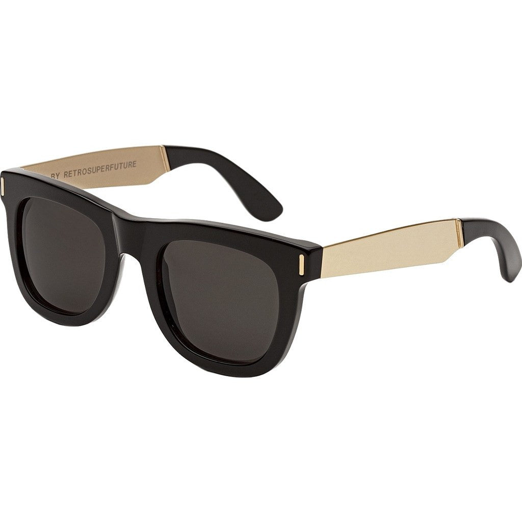 RetroSuperFuture Ciccio Sunglasses | Francis Black Gold 195