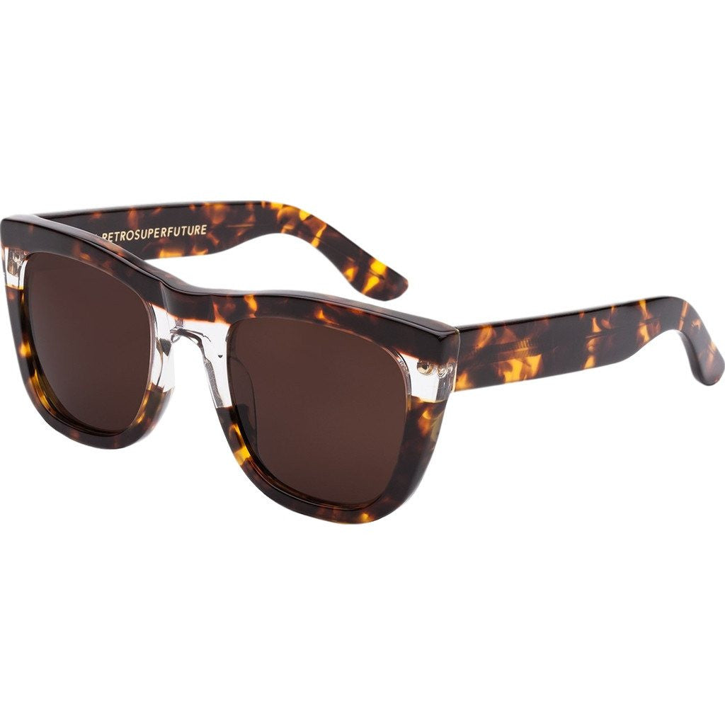 RetroSuperFuture Gals Sunglasses | Strata Brown DNI