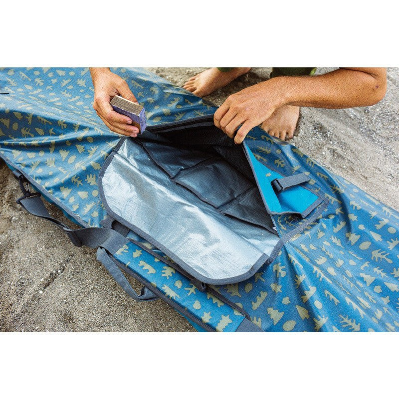Poler High & Dry Surfboard Bag | Ocean Mushy Trees