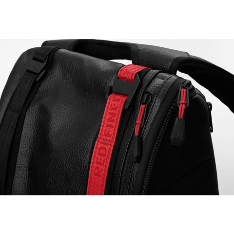 Douchebags Base 15L Leather Ltd. Backpack | Black/Red