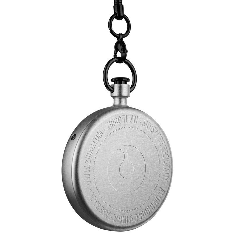 ZIIIRO Titan Chrome Pocket Watch | Z0009PWS