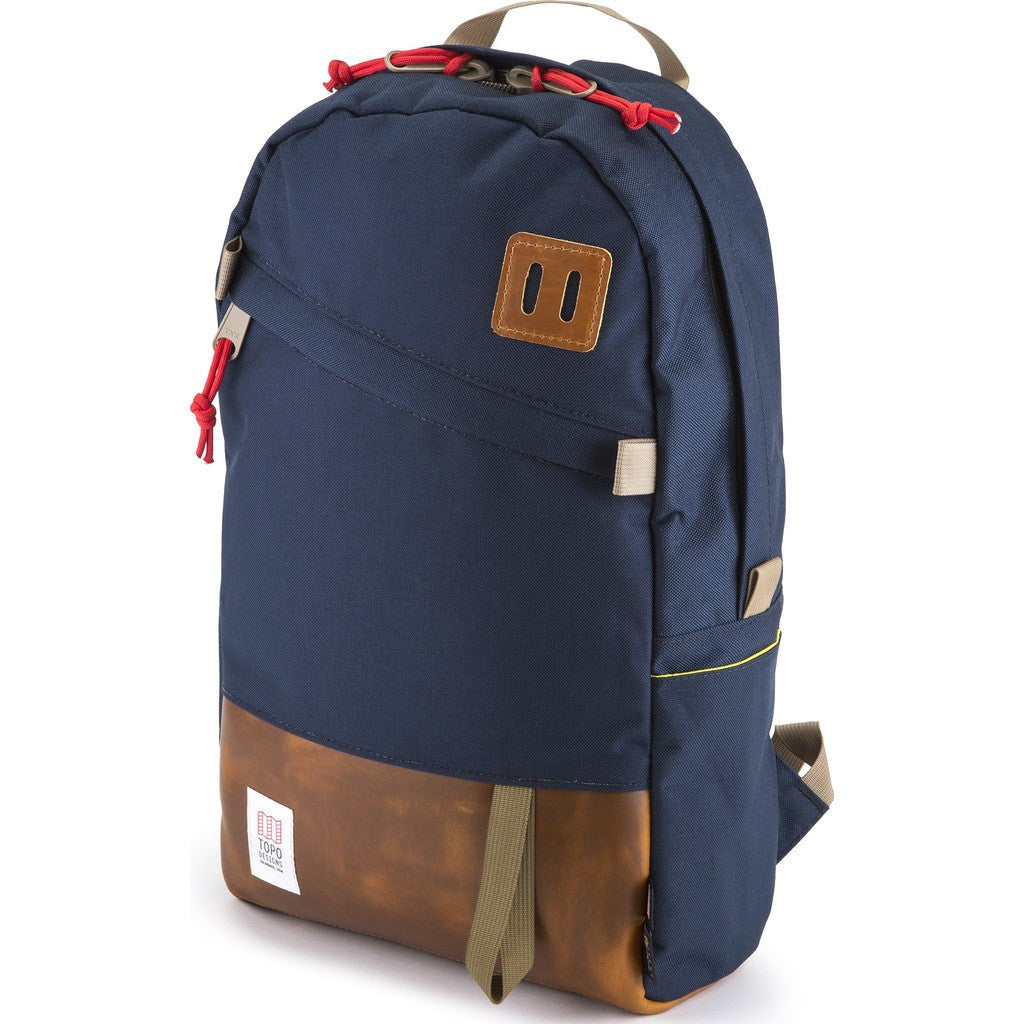 Topo Designs Daypack Backpack | Navy/Leather