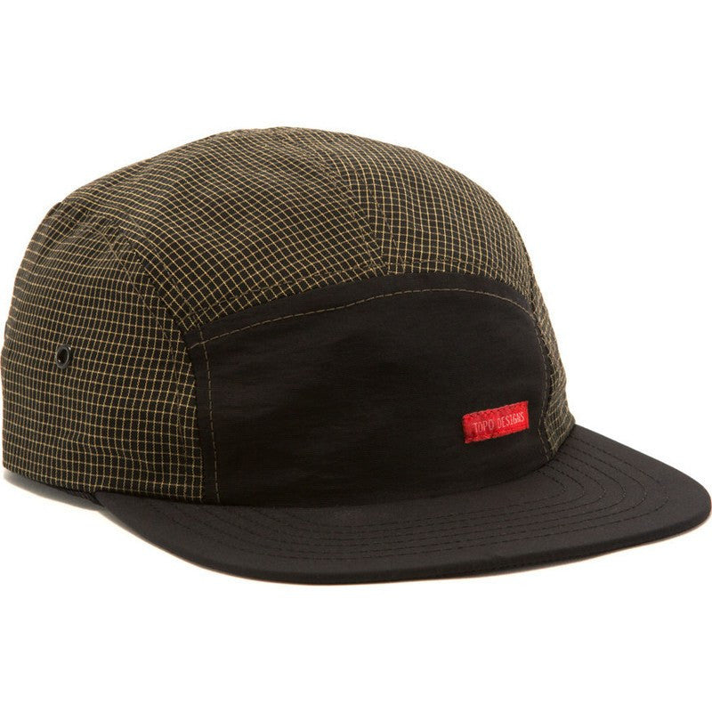 Topo Designs Nylon Camp Hat | Black Grid
