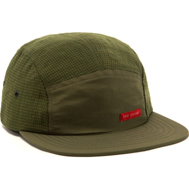 Topo Designs Nylon Camp Hat | Olive Grid