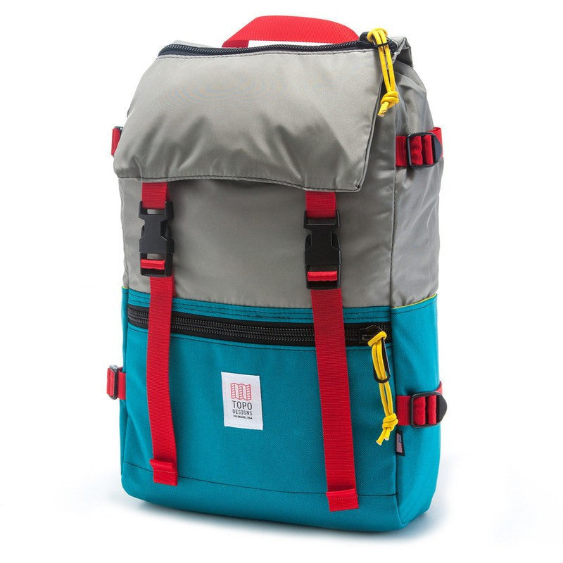 Topo Designs Rover Pack Backpack | Turquoise/Silver