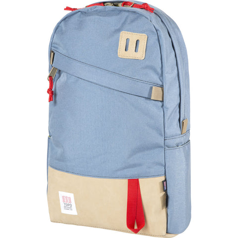 Topo Designs Daypack Backpack | Storm/Khaki Leather
