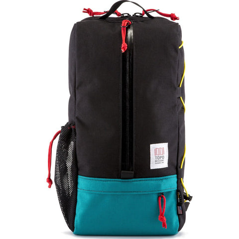 Topo Designs Sling Bag Messenger | Black/Turquoise