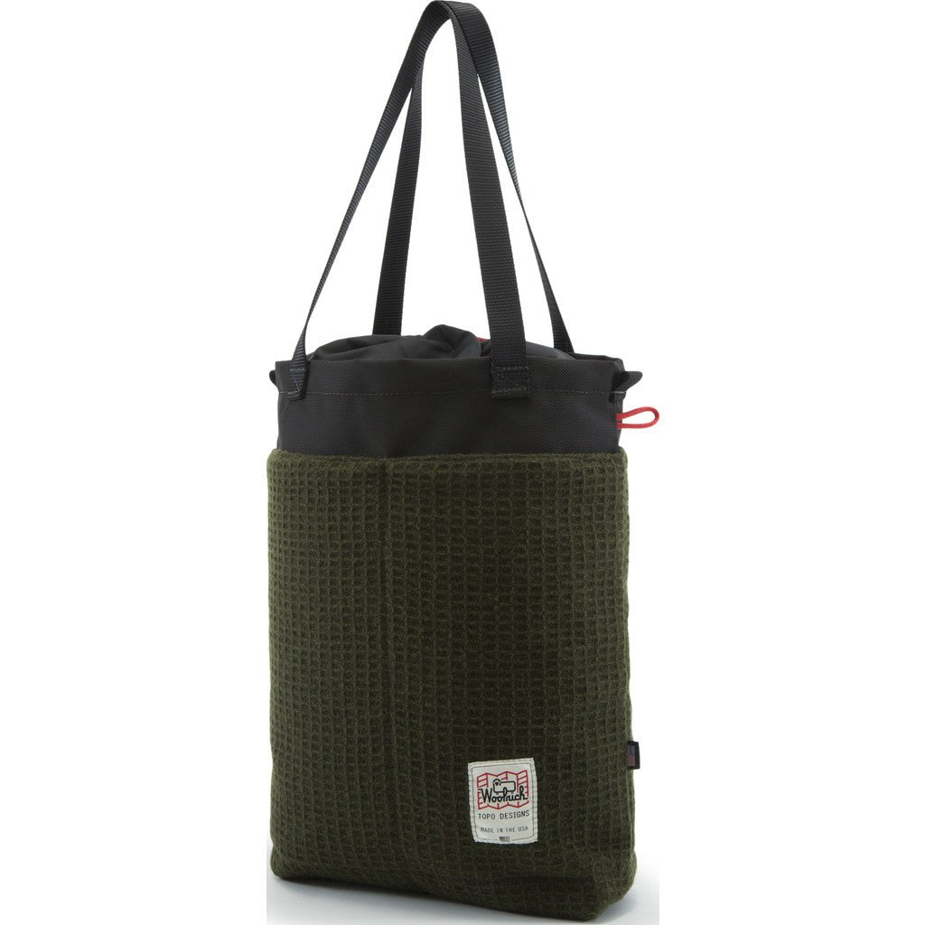 Topo Designs x Woolrich Cinch Tote Bag | Olive Waffle