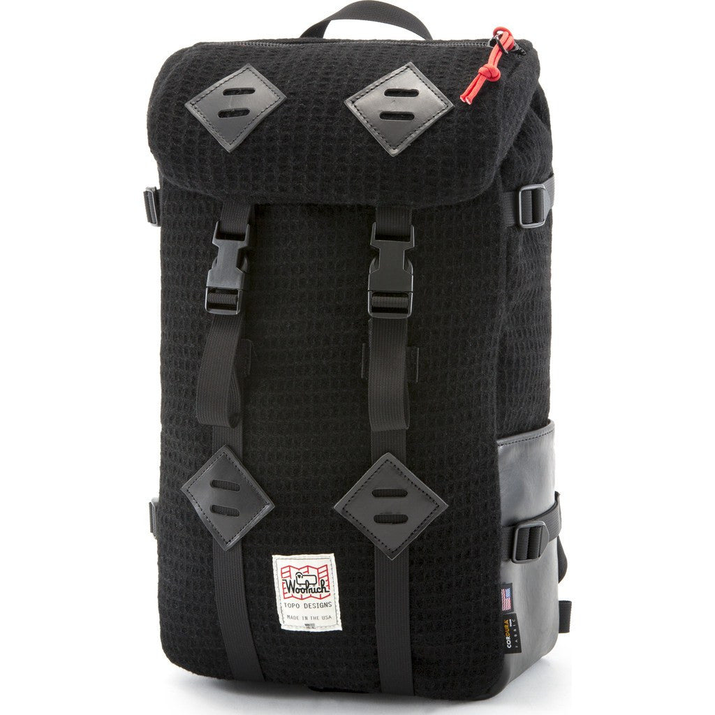 Topo Designs x Woolrich Klettersack 22L Backpack | Black Waffle
