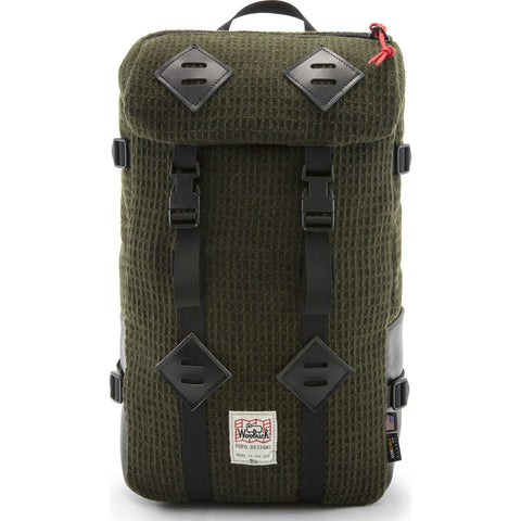 Topo Designs x Woolrich Klettersack 22L Backpack | Olive Waffle