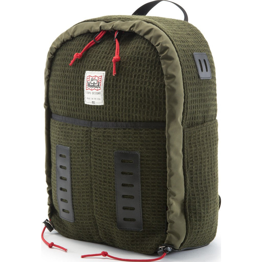 Topo Designs x Woolrich Span Daypack Backpack | Olive Waffle