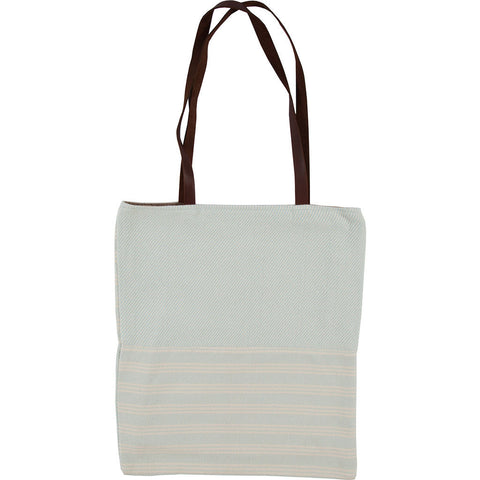 Faribault Beacon Stripe Unstructured Tote Bag | Seafoam-BABELB1587