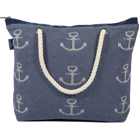 Faribault Nautical Cotton Structured Tote Bag | Clearwater -BANANV1518