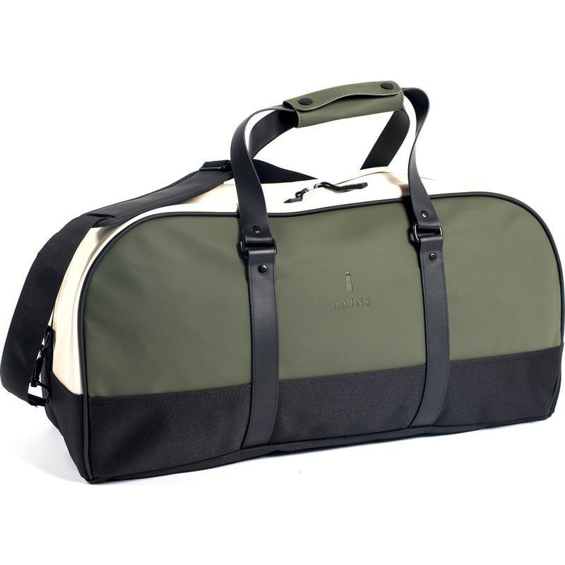 RAINS Waterproof Travel Duffel Bag | Green/Sand