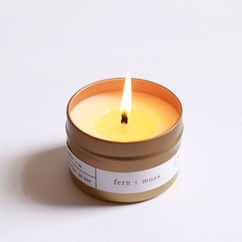 Brooklyn Candle Studio Gold Travel Candle | Fern + Moss TR001