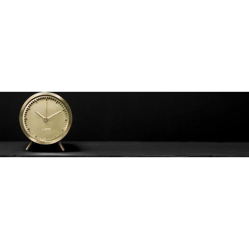 LEFF Amsterdam Tube Desk Clock | Brass