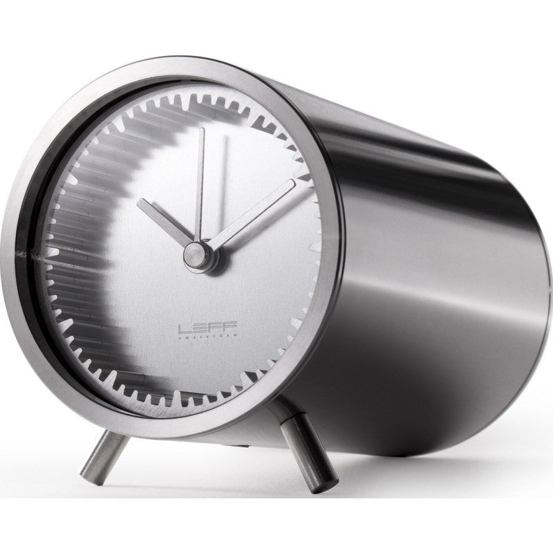 LEFF Amsterdam Tube Desk Clock | Steel