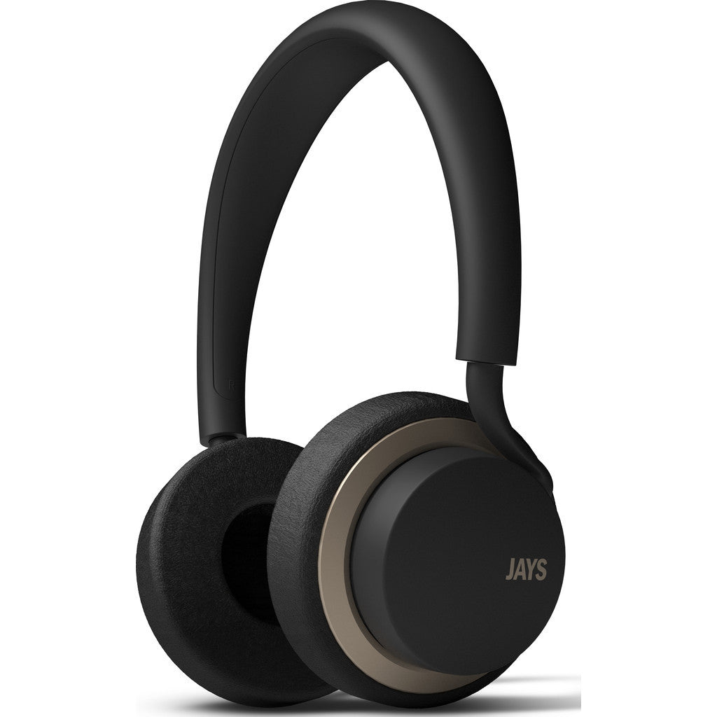 JAYS u-JAYS On-ear Headphones | Black/Gold
