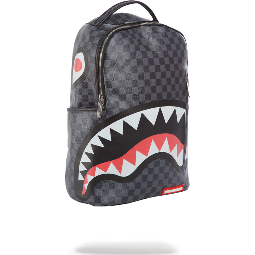 7c9f66bbf1a712 ... Sprayground Sharks in Paris Backpack | Grey Checkered 910B1374NSZ ...