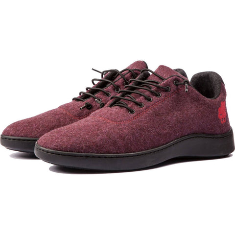 Baabuk Urban Wooler Sneaker | Bordeaux Red