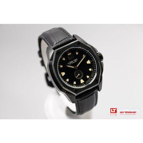 Lum-Tec V11 Phantom Watch - Black Croc Leather Strap
