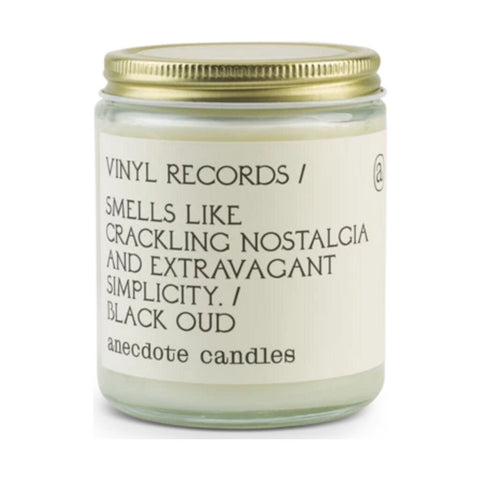 Anecdote Candles Glass Jar Candle | Vinyl Records