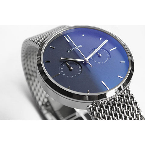 Greyhours Vision Steel Blue Watch | Silver VISIONSTEEL
