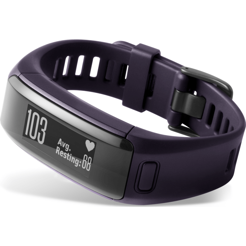 Garmin Vivosmart HR Bluetooth Activity Tracker | Imperial Purple