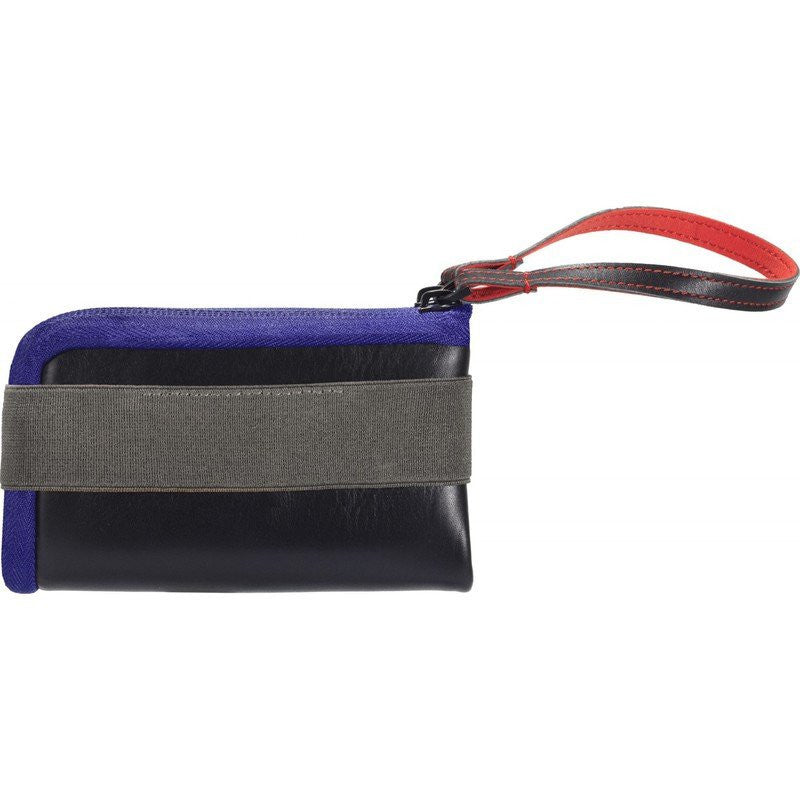 Cote et Ciel Medium Leather Wallet | Black/Taupe/Indigo