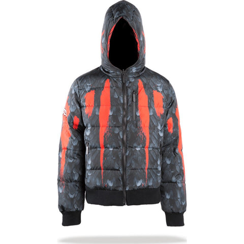 Sprayground Warrior Wings Reversible Down Jacket | Red/Black