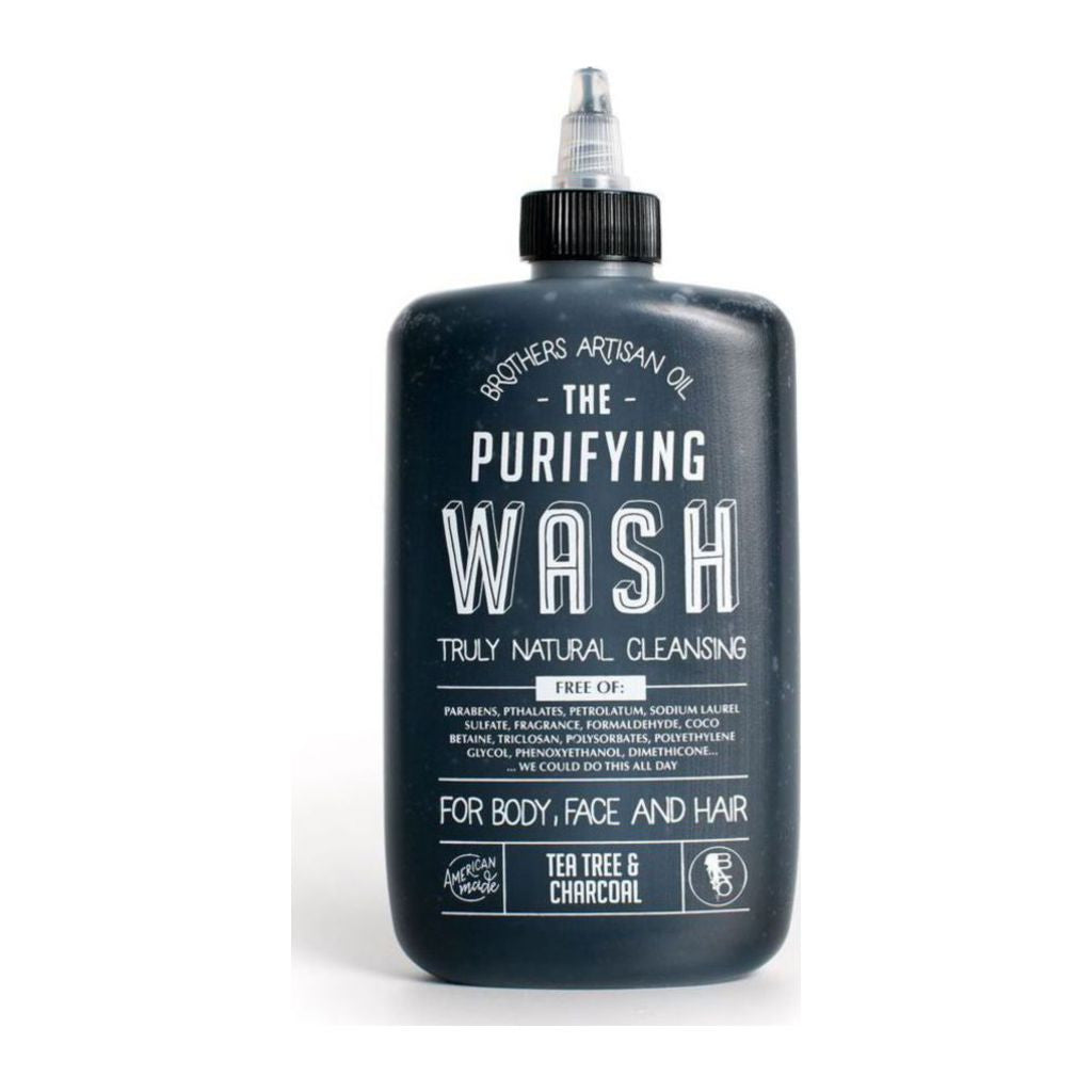Brothers Artisan Oil Purifying Shampoo and Body Wash | Tea Tree & Charcoal WPUR8