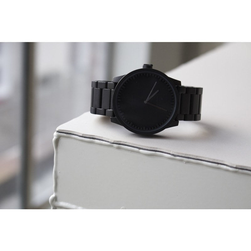 LEFF amsterdam S42 Tube Watch | Black Plated Stainless Steel