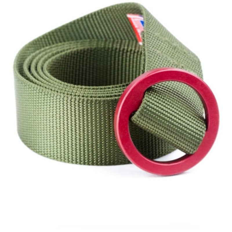 Topo Designs Web Belt | Olive/Red