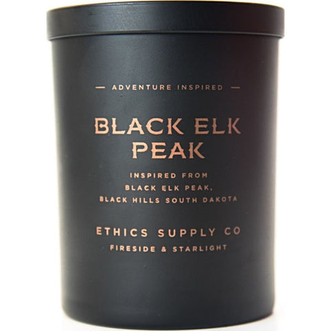 Ethics Supply Co. Organic Scented Candle | Black Elk Peak