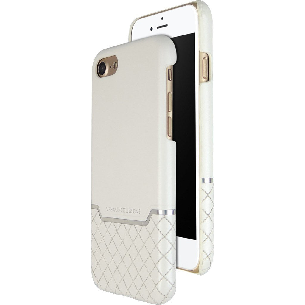 DRACOdesign Venano B Leather Back Cover Case for iPhone 7 | DVC-i72GLWH White