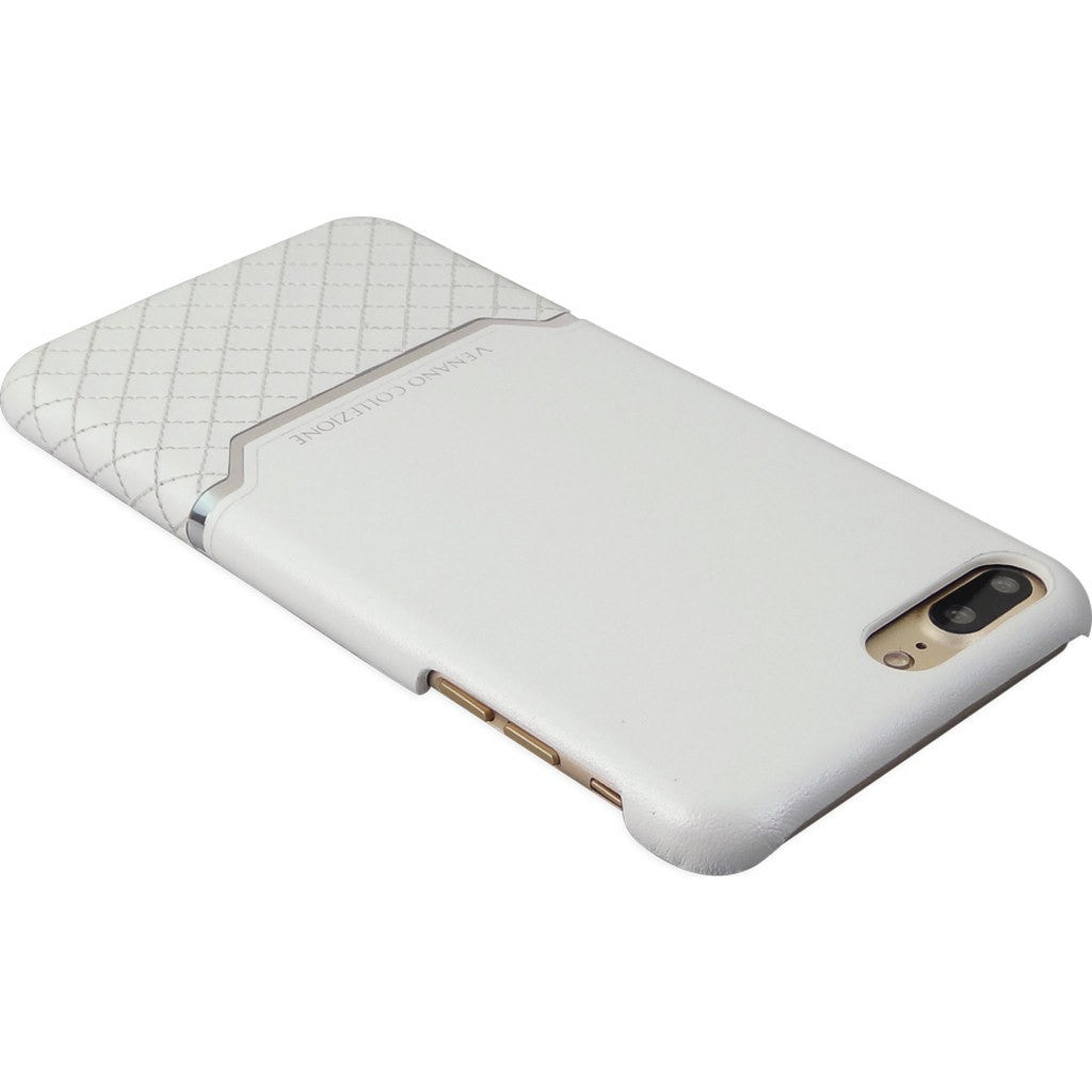 DRACOdesign Venano B Plus Leather Back Cover Case for iPhone 7 Plus | DVC-i7P2GLWH White
