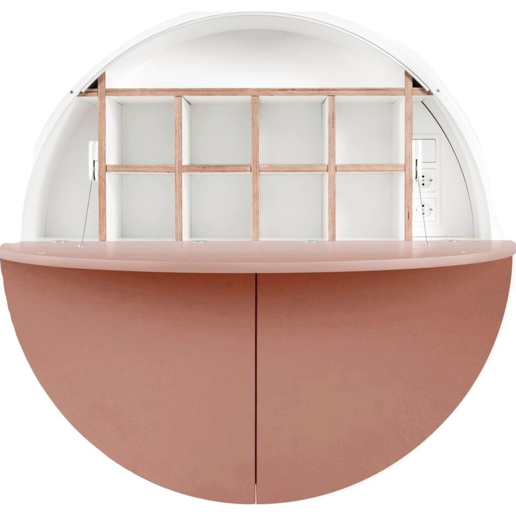 EMKO Multifunctional Pill Cabinet/Desk | White/Pink-MPWPink