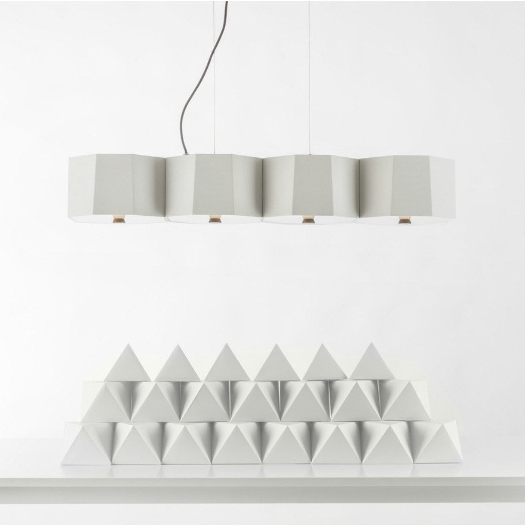 Seed Design Zhe Small Pendant Lamp | White SQ-2322MPL4-WH