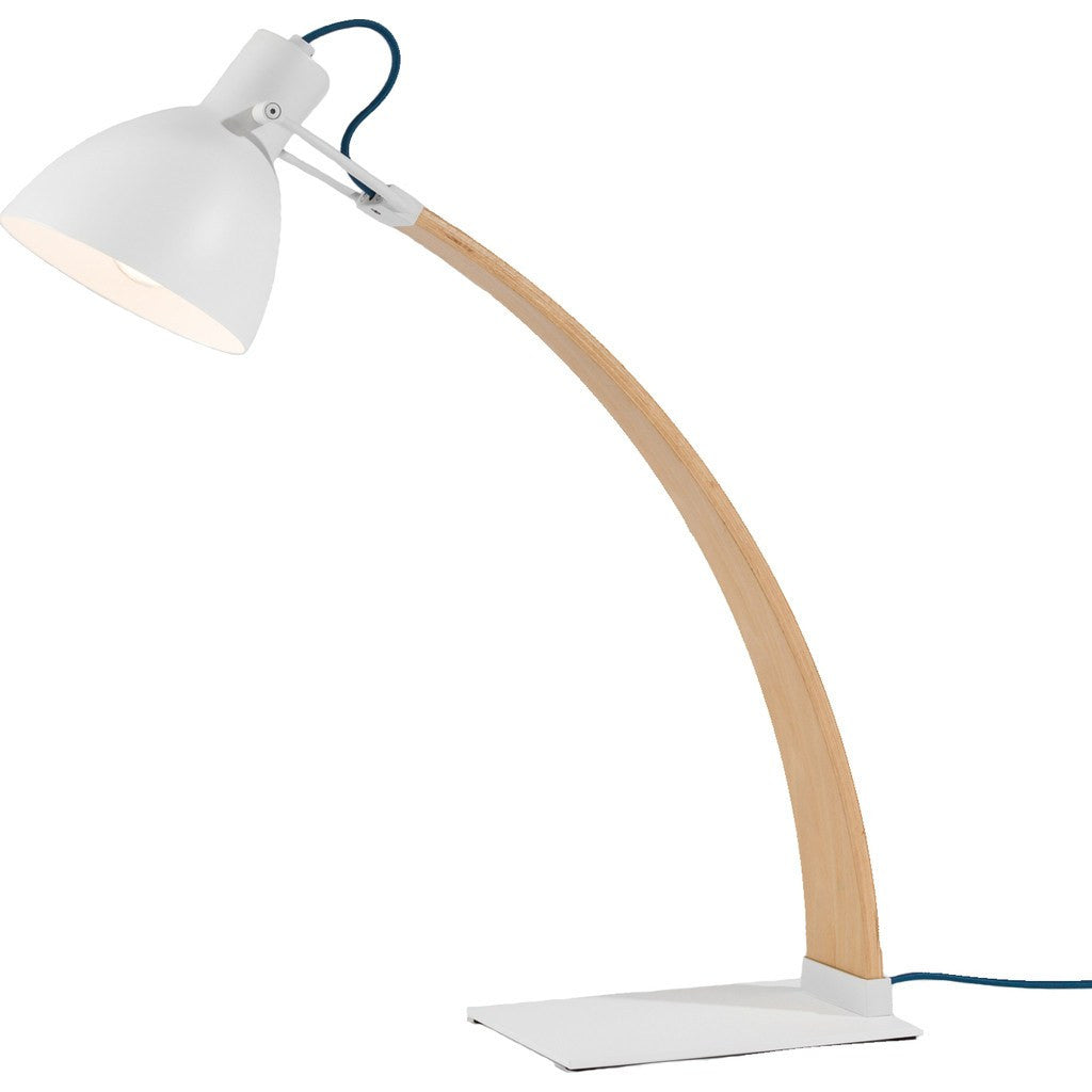 Seed Design Laito Wood Table Lamp | White SQ-893DWR-WH