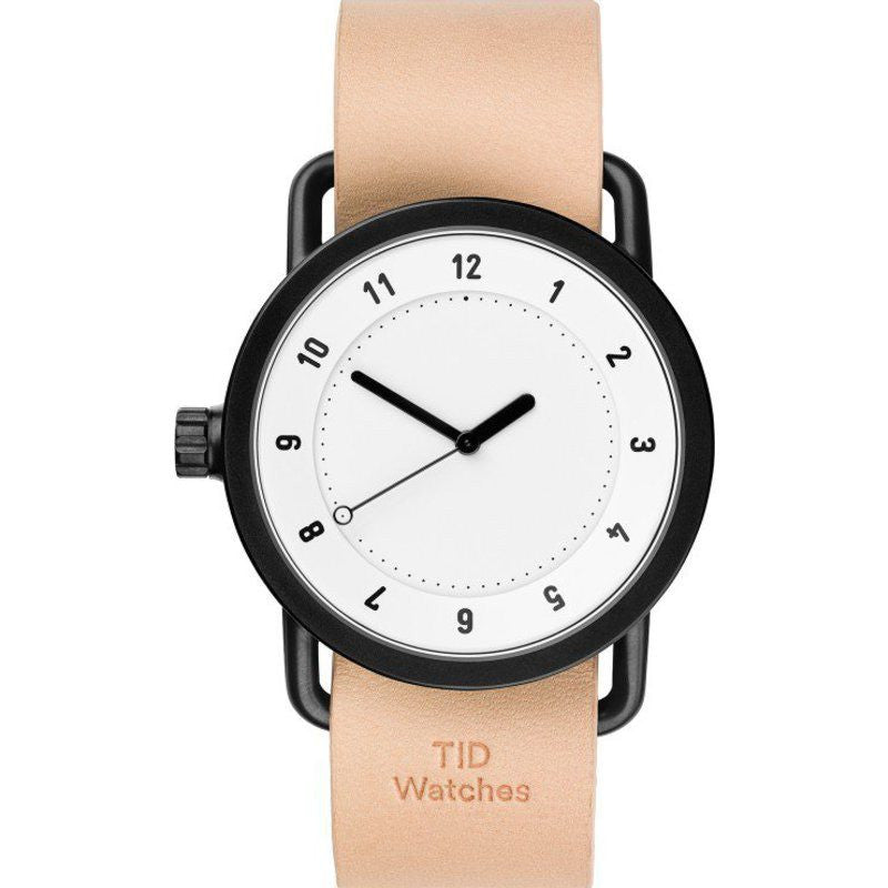 TID No. 1 White Watch | Natural Leather