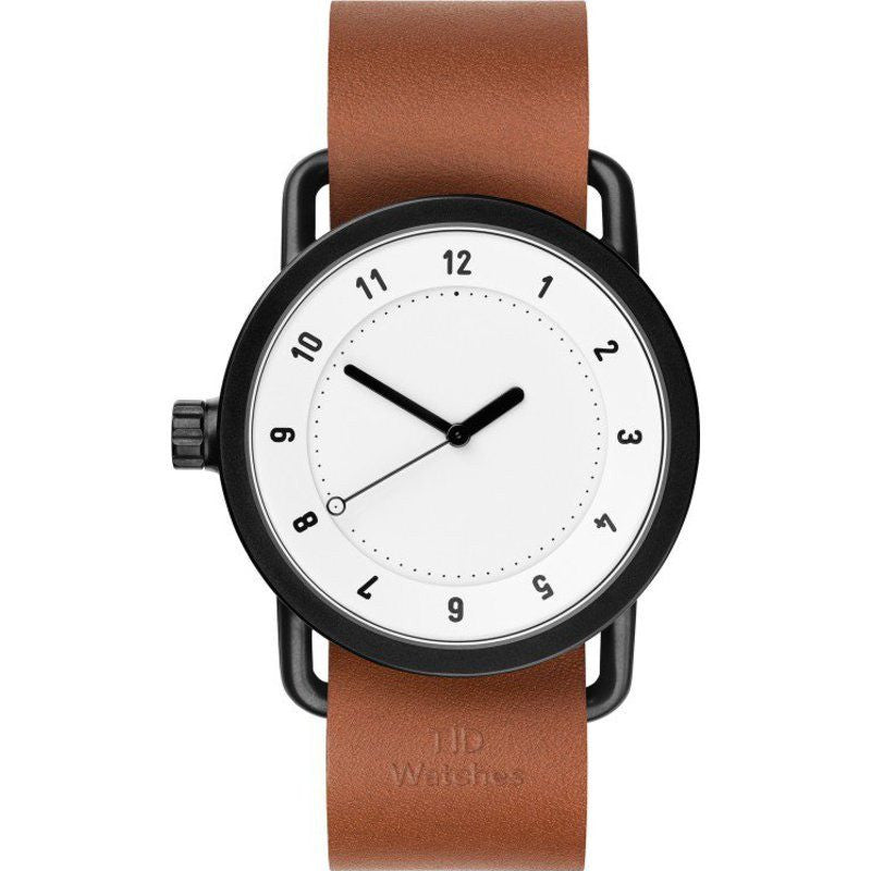 TID No. 1 White Watch | Tan Leather
