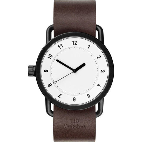 TID No. 1 White Watch | Walnut Leather