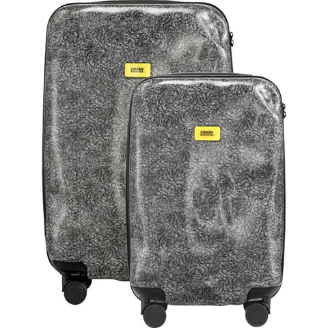 Crash Baggage Set of 3 Surface Trolley Suitcases | White fur CB120-30