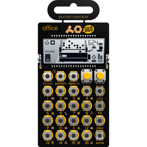 Teenage Engineering Office Pocket Synthesizer | Yellow PO-24 010 AS 024A