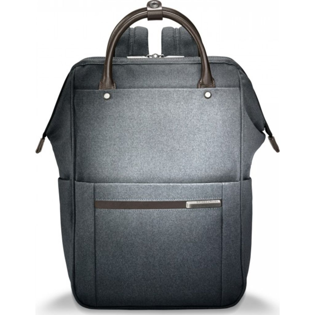 Briggs & Riley Framed Wide-mouth Backpack | Grey