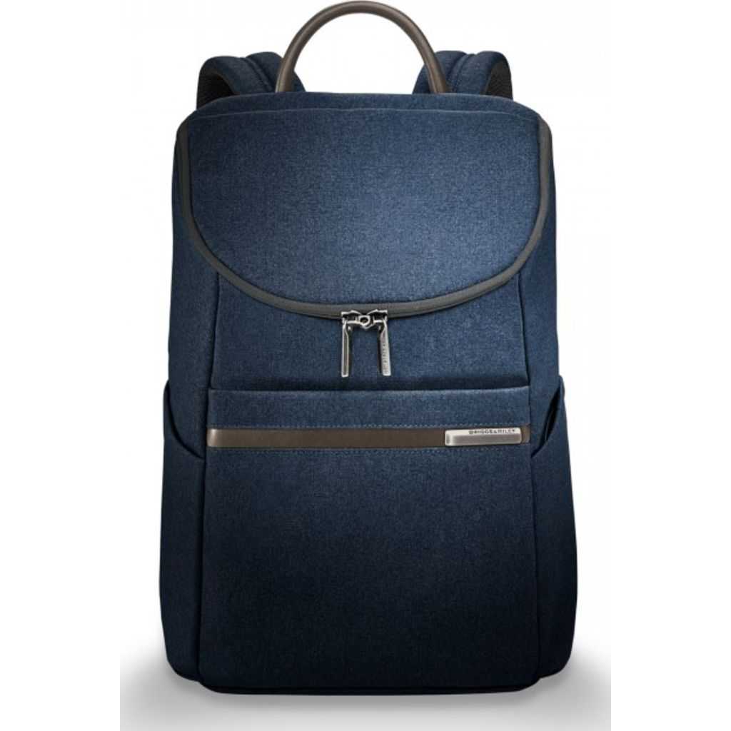 Briggs & Riley Small Wide-mouth Backpack | Navy
