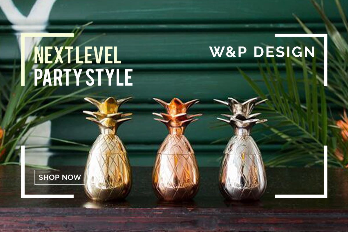 Innovative, fun, and unique kitchen and barware for the ultimate foodies from W&P Design.